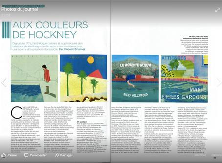 Sélection pochettes dans le Hors Série David Hockney des Inrocks