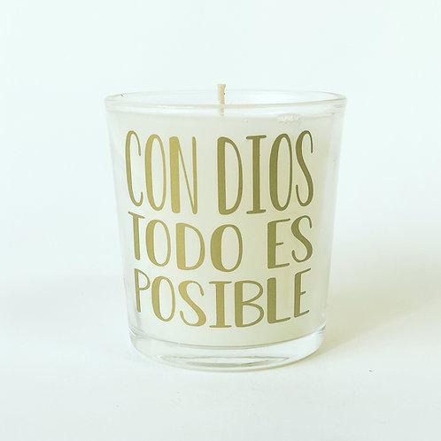 VASO CON DIOS TODO ES POSIBLE