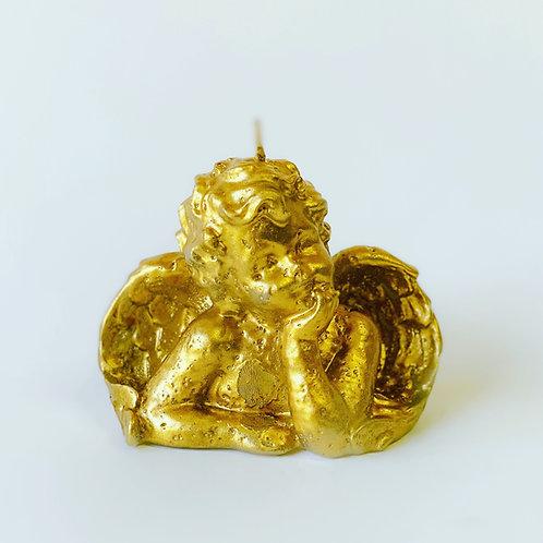 Ángel dorado-plata y cobre