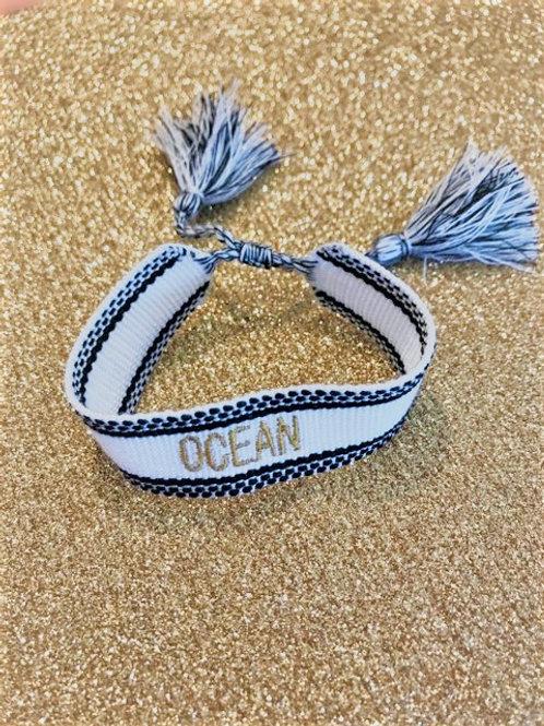 Bracelet Tissé - OCEAN - Blanc