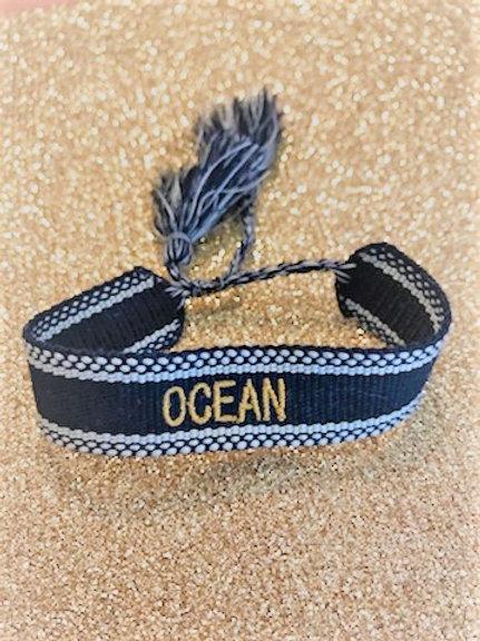 Bracelet Tissé - OCEAN - Marine