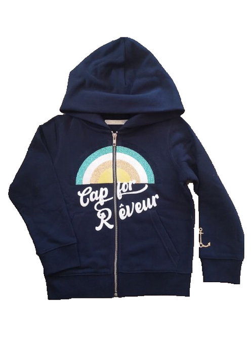 Hoodie zippé Cap for Rêveur