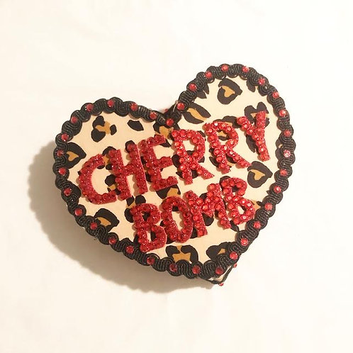 CHERRY BOMB - Anti-Conversation Pillbox Heart Hat