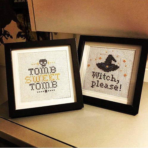 Spooky Cross Stitch - Witch, Please!