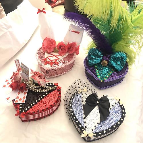FULL SET - Alice, Queen, Hatter & Rabbit Inspired Cocktail Hats
