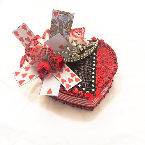 QUEEN OF HEARTS - Alice in Wonderland Inspired Cocktail Hat