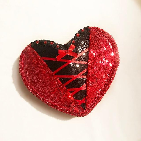 CORSET - Anti-Conversation Pillbox Heart Hat