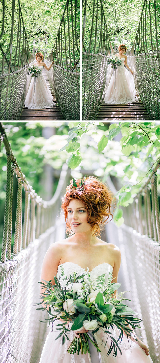 Bridal Shoot Alnwick Treehouse North East Photography