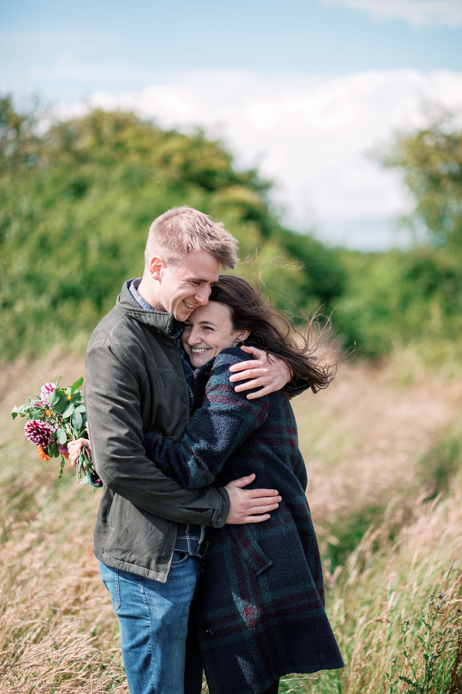 Sarah & David - Pre wedding Shoot - Druridge Bay