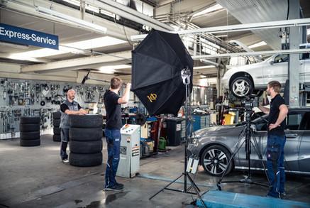 Recruitingfilm in Mercedes Werkstatt