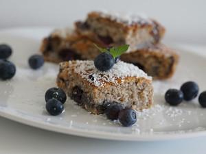 Kokos-Heidelbeer-Kuchen