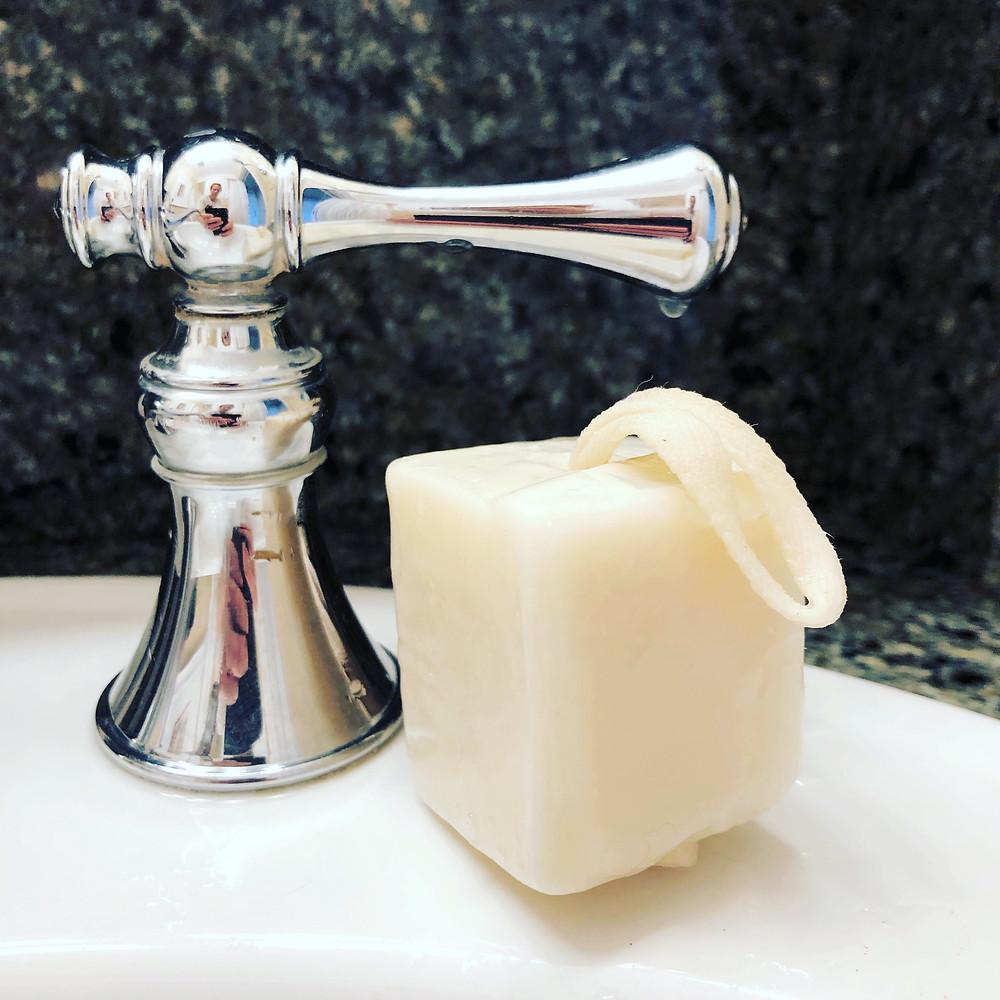 Natural shampoo bar in a handy travel size