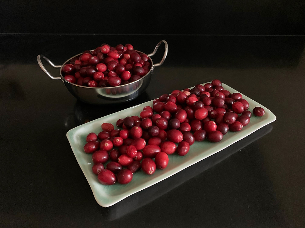 Ecofriendly christmas food - cranberries
