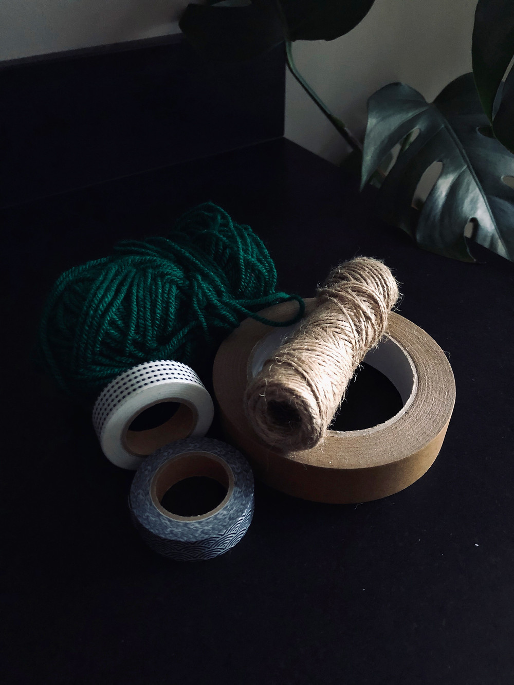 Alternative to sellotape including twine, wool, washi tape or brown paper tape