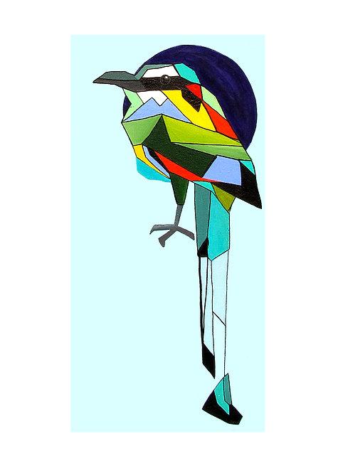 Geo Roller Finch Print