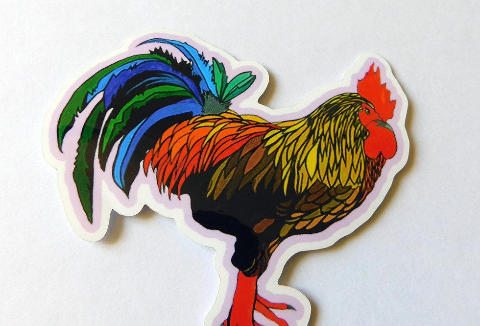 Geo Rooster Sticker