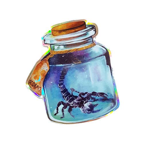 Holographic Scorpio Sticker