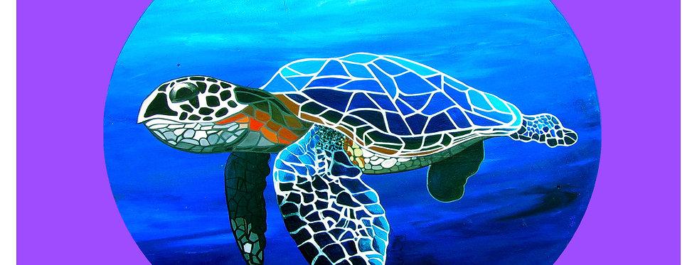 Geo Turtle Print