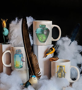 Ceramic Zodiac Mugs  Air Elements