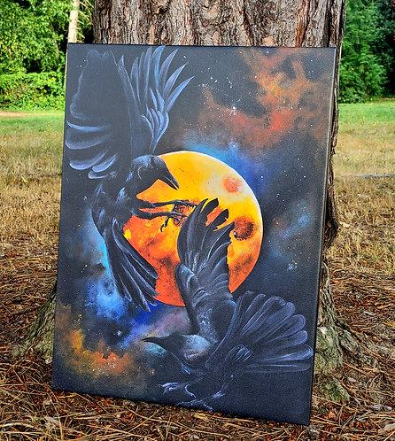 Ravens Of Odin Canvas Print
