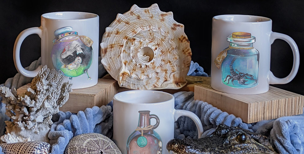 Ceramic Zodiac Mugs          Water Elements