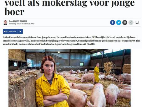 Intimidatie hakt erin bij aankomende generatie veehouders