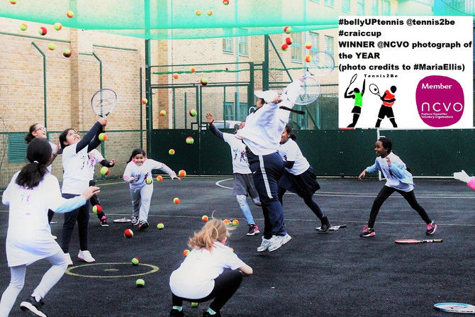 Tennis2Be is the WINNER of @NCVO photograph of the YEAR #bellyUPtennis