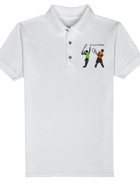 White Men's Embroidered Polo Shirt