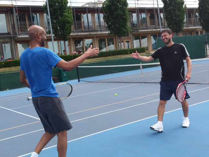 Tennis, Teamship & Charity ! It must be the 4th Annual Craic Cup Tennis Tournament !