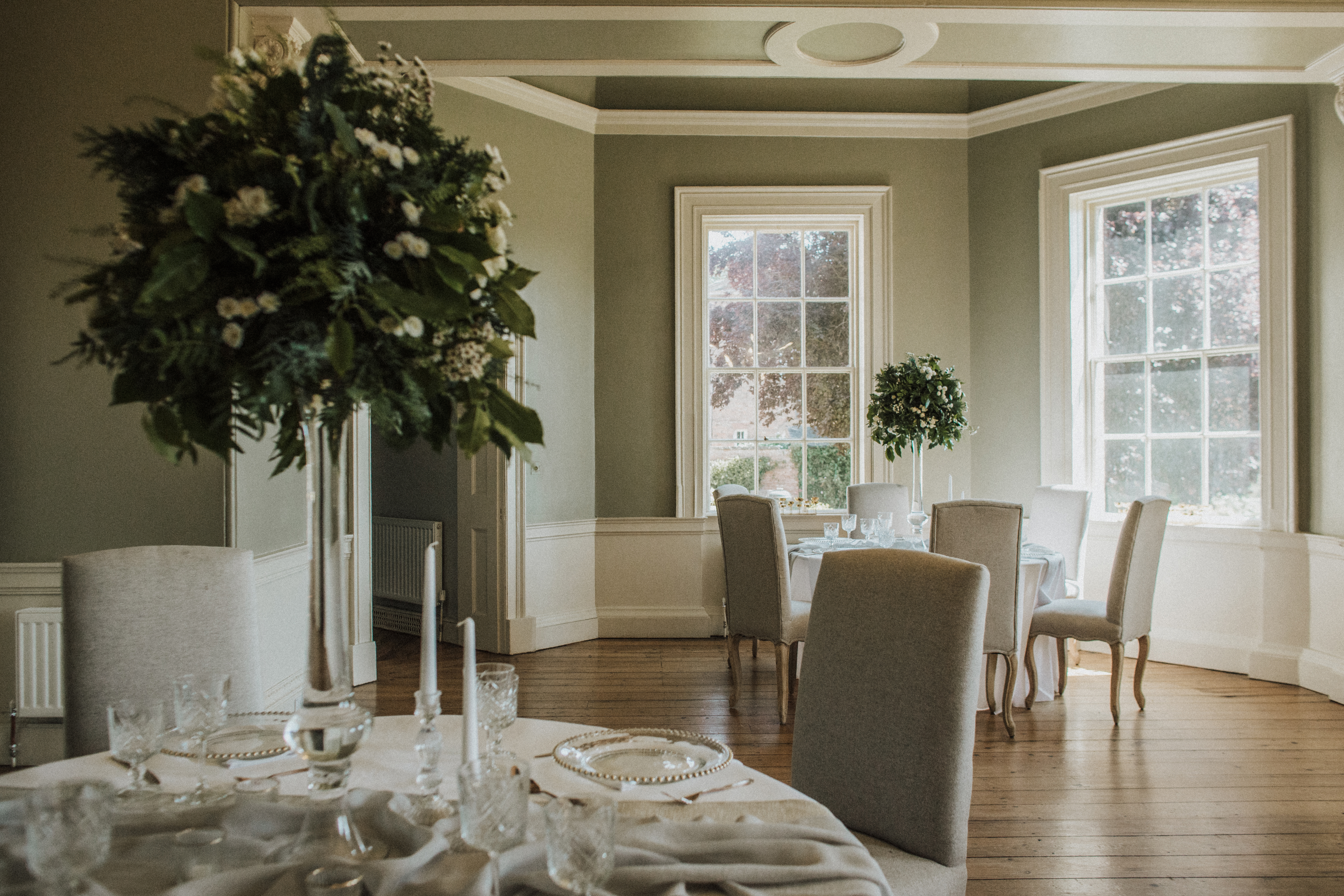 Social Distanced Wedding Breakfast at Norwood Park