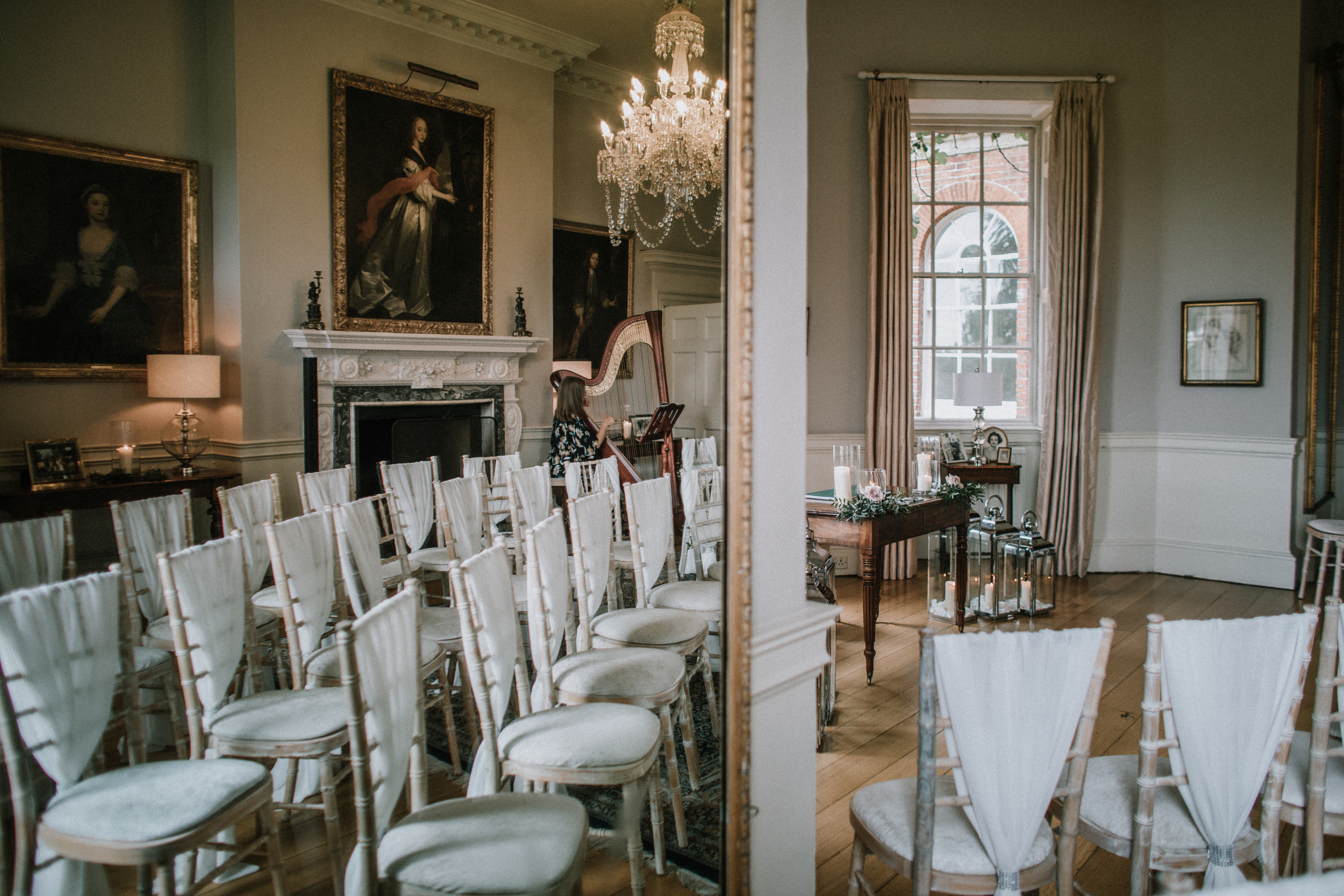 Drawing Room set for Ceremony at Norwood Park