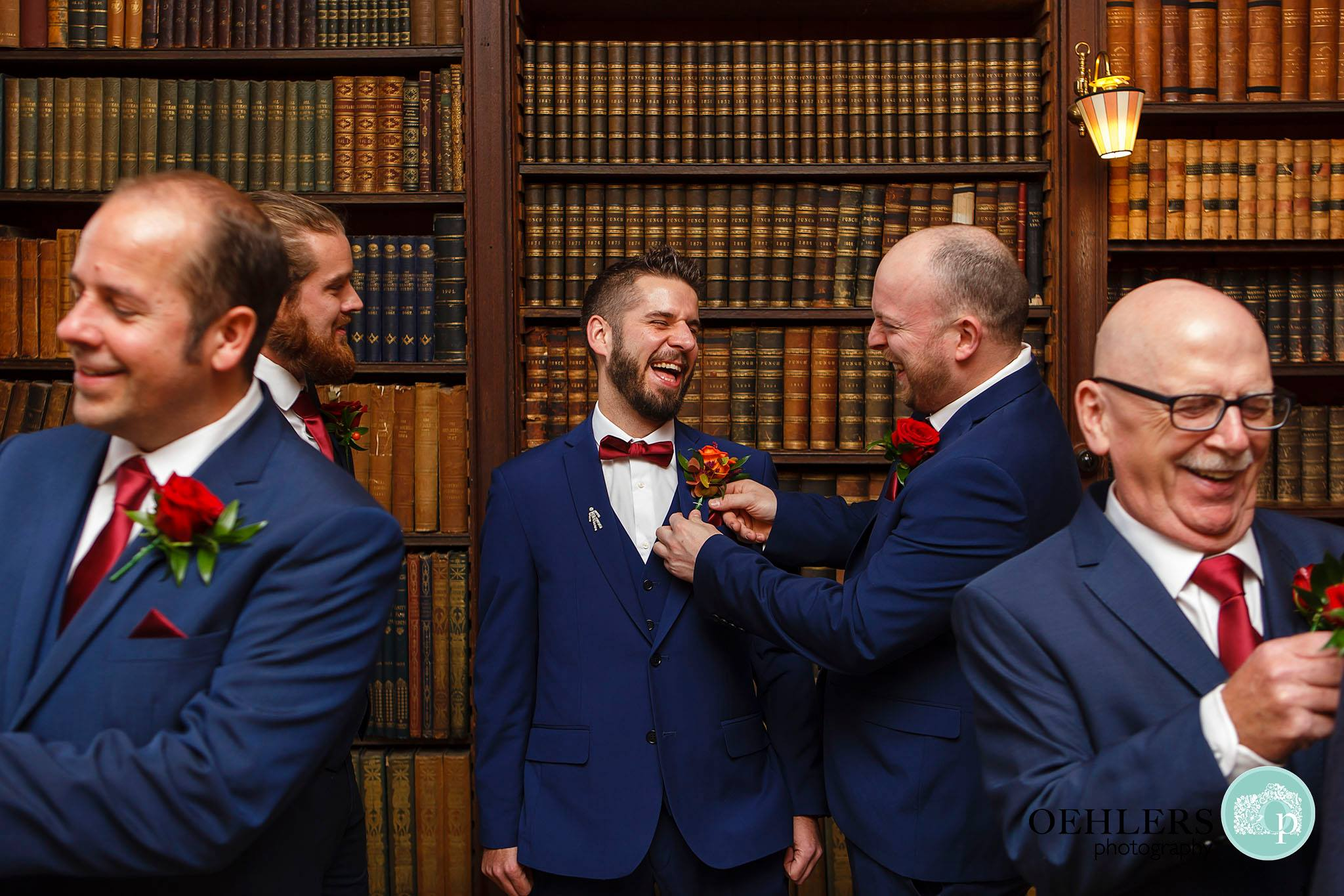 Groom and his Groomsmen in Norwood Park Library