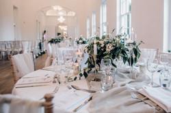 Circle Wedding Breakfast Table Decorations