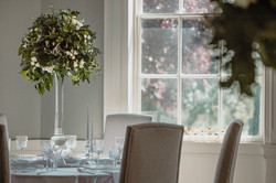 Wedding Breakfast table with floral arrangements