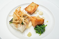 Main Course Plate of Pan Roasted Cod