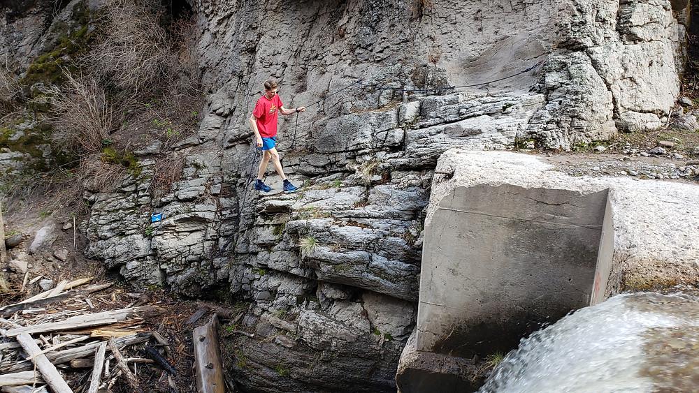 Walking the ledge