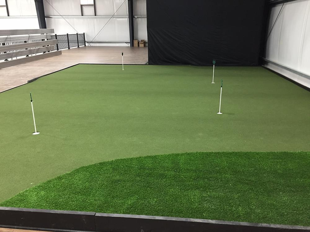 Indoor Golf Green and Golf Simulators