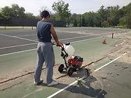 Naperville Illinois Tennis Court Reasurfacing