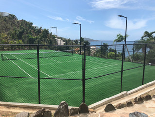 MTJ Sports installs new OmniCourt at NLP Nail Bay, Virgin Gorda, BVI