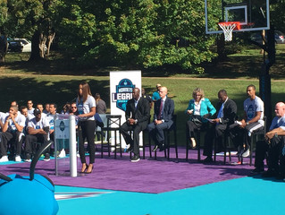MTJ Sports and Hornets Legacy Basketball Court opened Oct 18, 2016