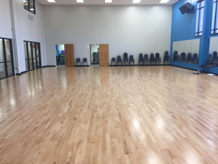 New Gym Multi-Sports Floor and Roll-Up Curtain for YMCA's by MTJ Sports