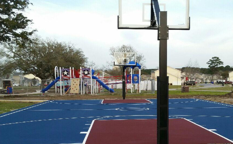 Mtj Sports Sc Completes New Basketball Court For Naval Station Charleston
