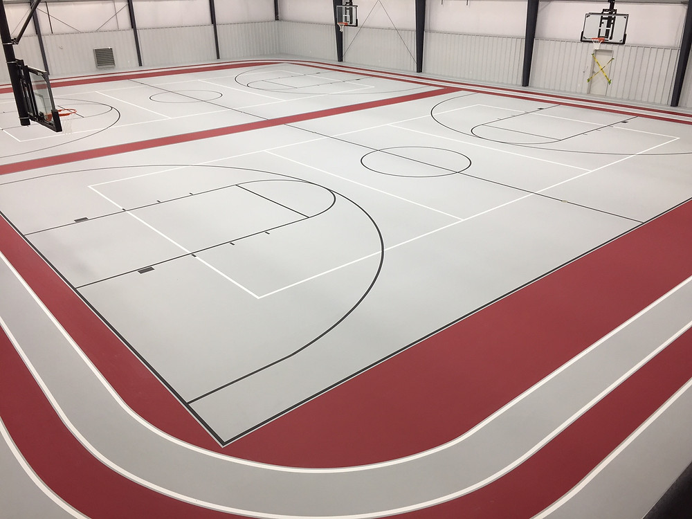 SignaFlor Pad&Pour Multi-Sports Gym Flooring and Indoor Track