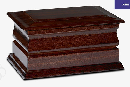 Exeter Ashes Casket Dark Mahogany