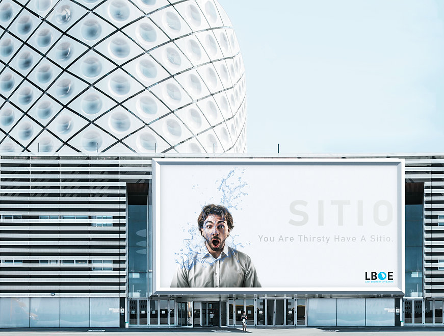 Sitio Poster Ad on Building