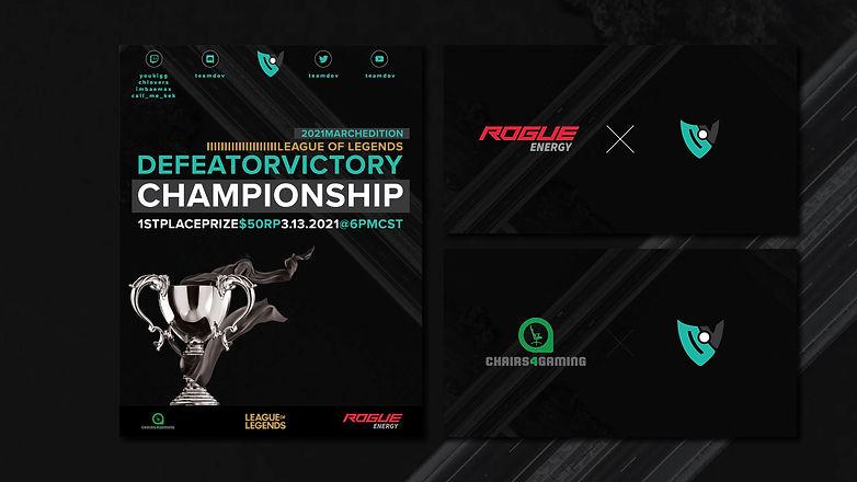 DoV tournament poster, sponsor banner