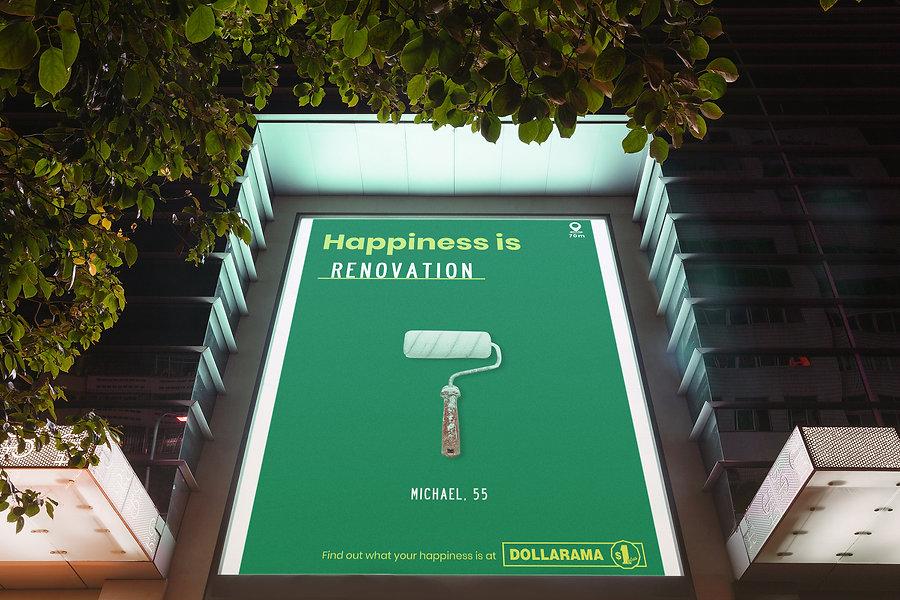 Dollarama Ad On Building