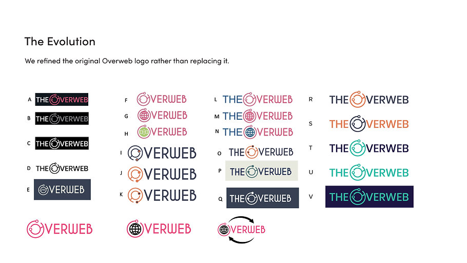 The Overweb logo design choices