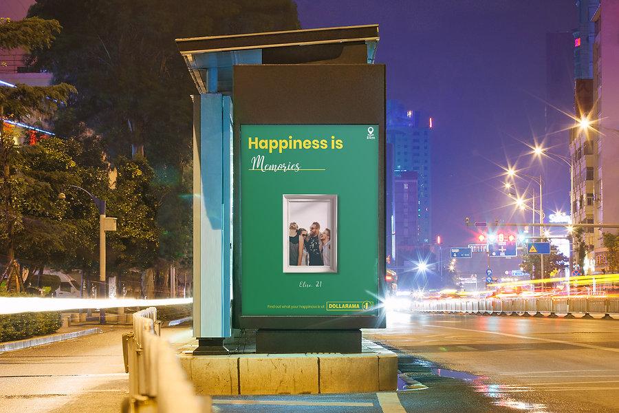 Dollarama Ad On Bus Shelter