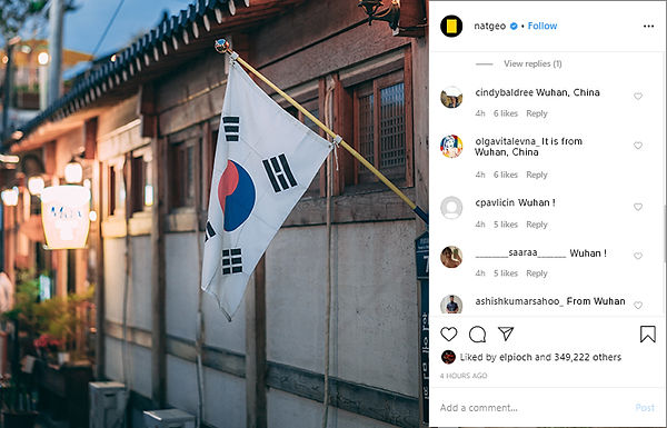 National Geographic Instagram Post Example After The Takeover